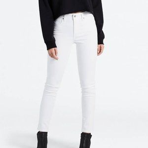 Levi 721 High Rise Skinny Jeans White size 30